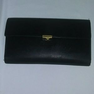 Coach Black Wallet and Check set